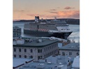 Cruise ships dock at foot of Old Québec