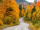 Saguenay's road in autumn