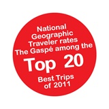 Gaspésie Top 50 National Geographic